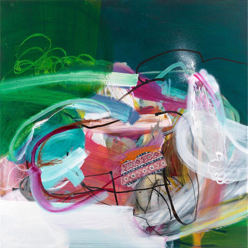 Body Language I, 100 x 100 cm, Mixed Media on Canvas, 2021