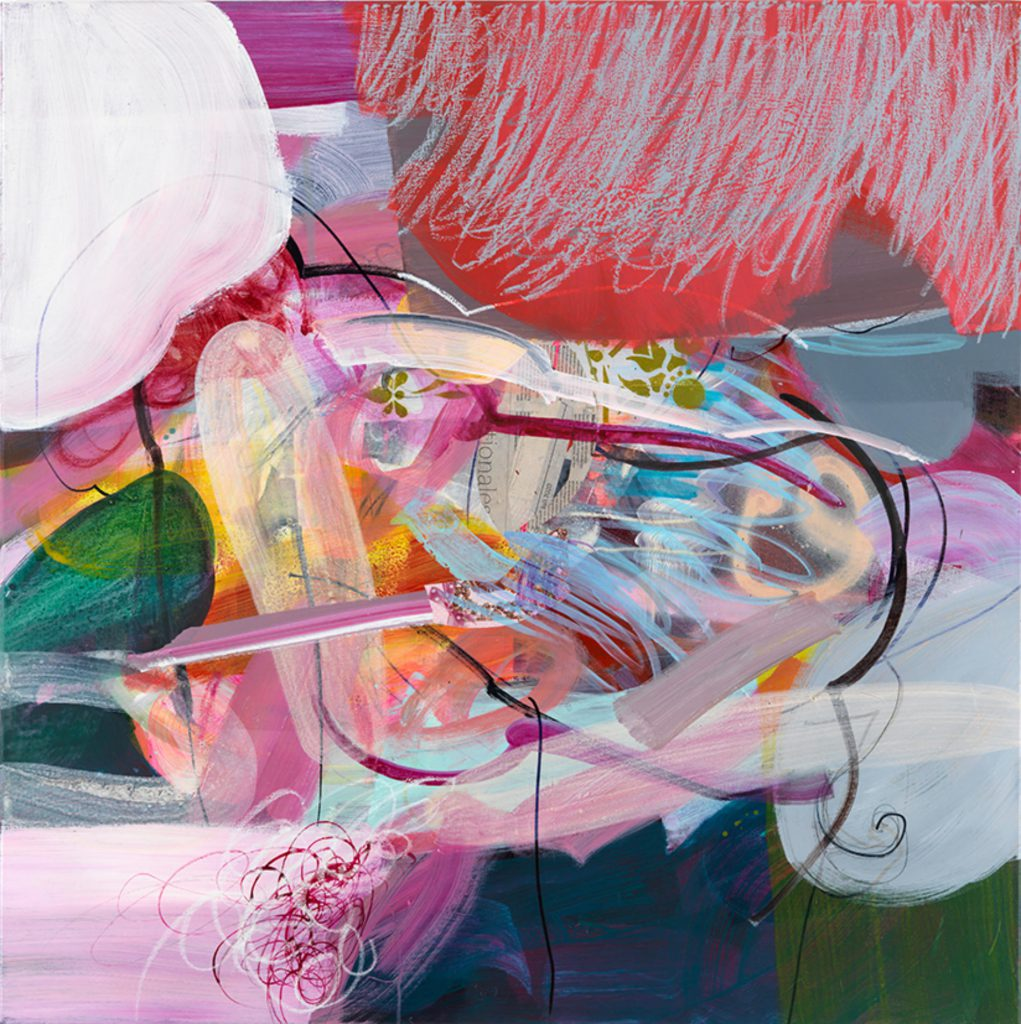 Body Language II, 100 x 100 cm, Mixed Media on Canvas, 2021