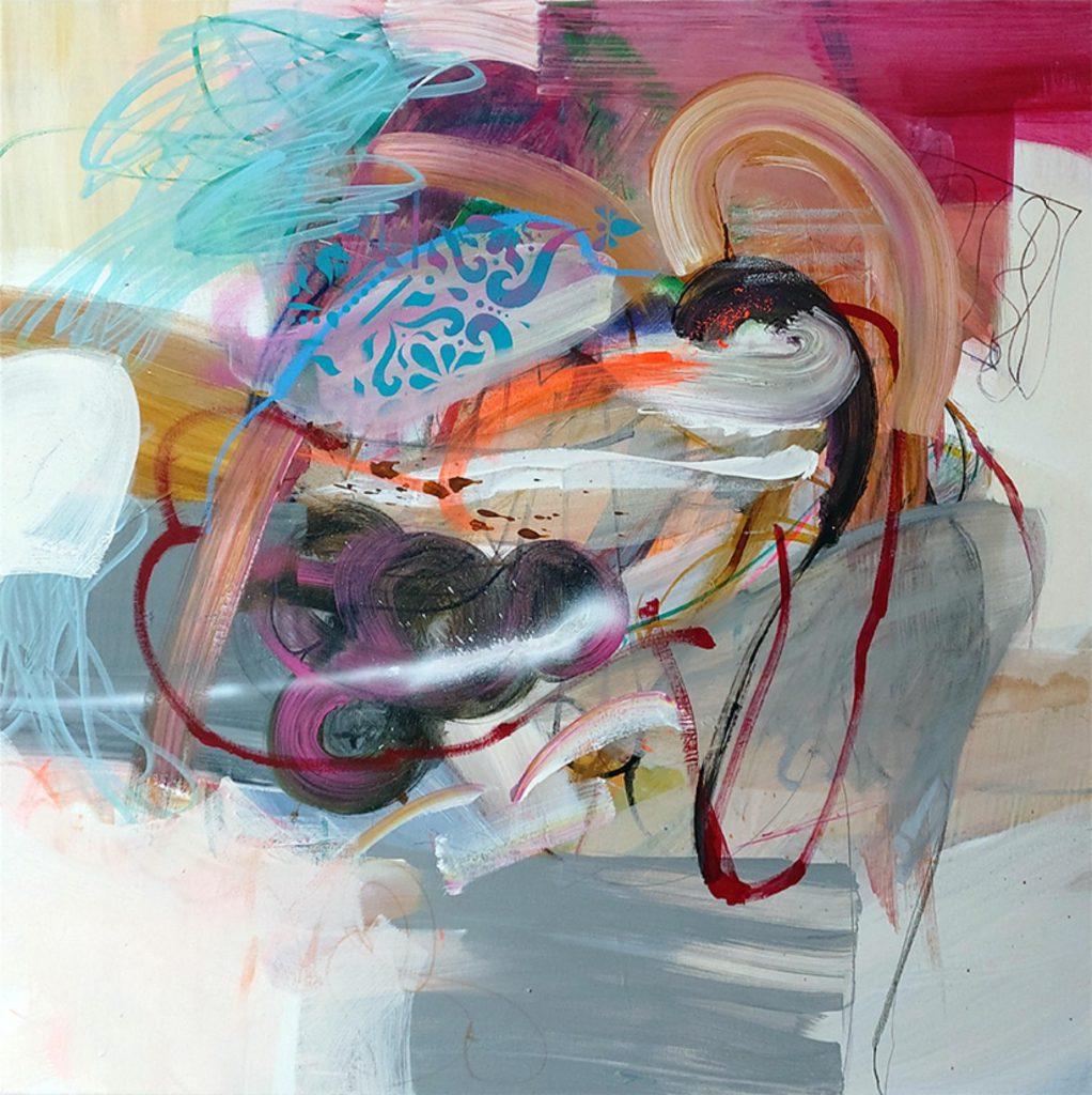 Body Language III, 100 x 100 cm, Mixed Media on Canvas, 2021