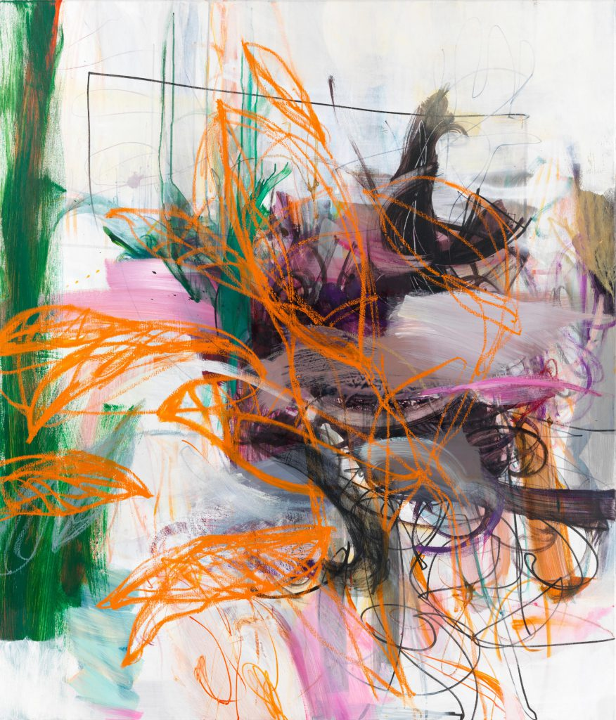 Out of range II, 140 x 120 cm, Mixed Media on Canvas, 2019