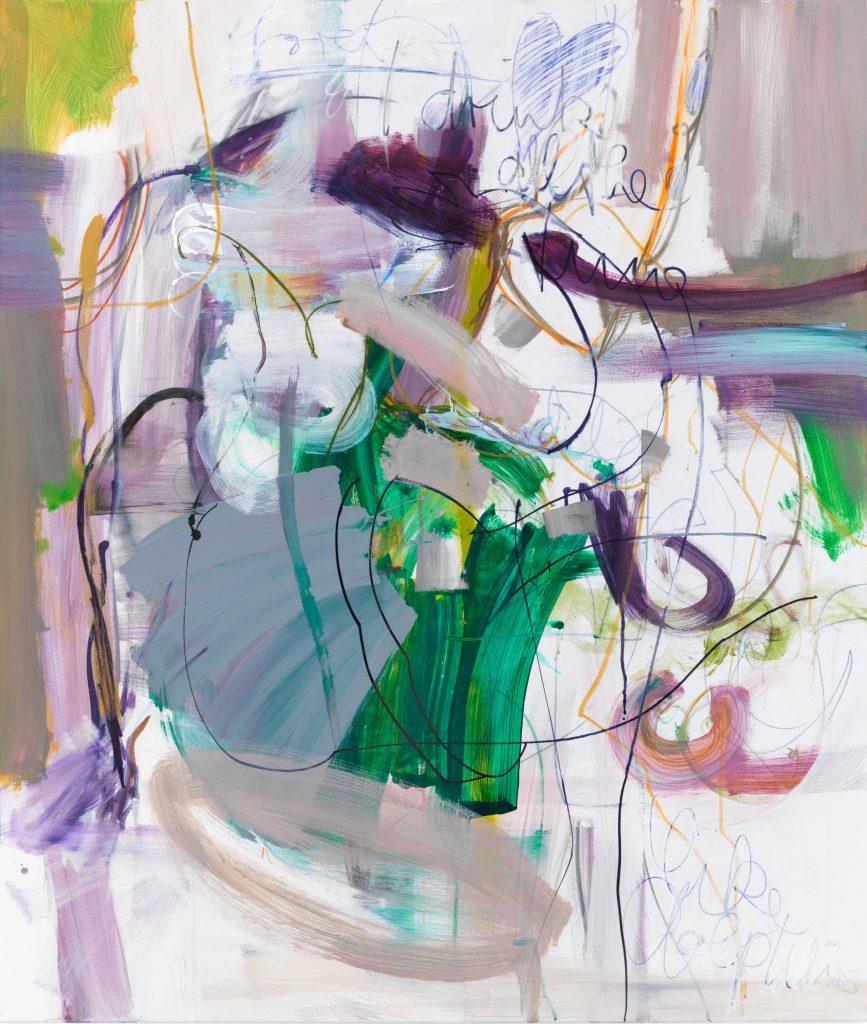 Judith, 140 x 120 cm, Mixed Media on Canvas, 2021