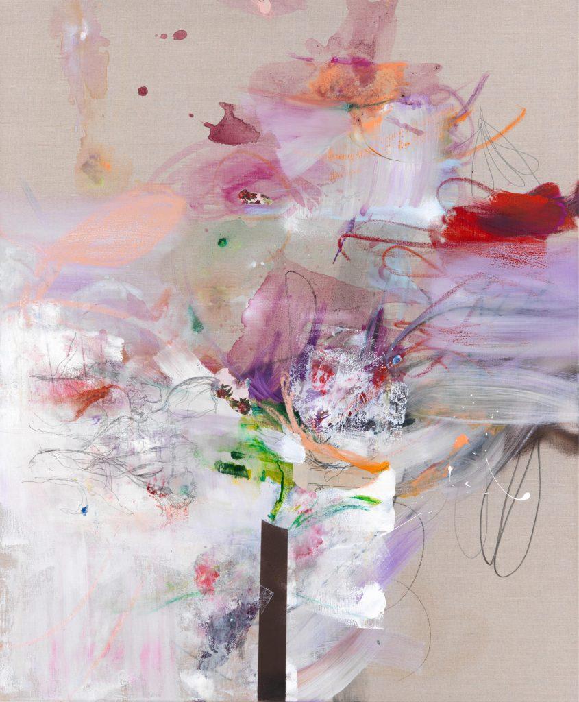 Mirror, 120 x 100 cm, Mixed Media on Canvas, 2019