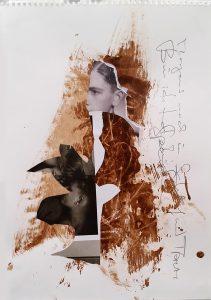 Series Und das Lied der Nachtigall nicht stören, 29,7 x 21 cm,Mixed Media on Paper 2019