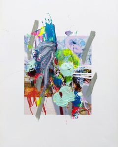ohne titel, 29,7 x 21 cm, Mixed Mediaon Paper, 2020